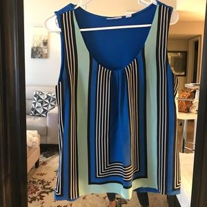 Royal blue with stripes blouse
